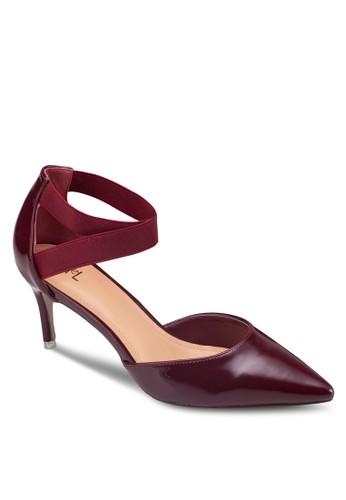 尖頭交叉踝帶高跟鞋, esprit台灣女鞋, 鞋