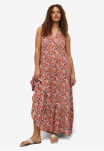Violeta by MANGO red Plus Size Flowy Printed Dress 25F09AA6726142GS_1