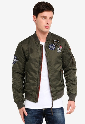 e102d33342f2b Superdry green Limited Issue Flight Bomber 00626AA6FC152BGS 1