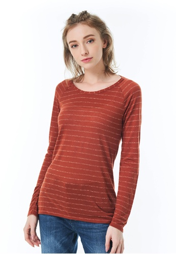 Sisley red Striped T-shirt 439DDAA7FF9414GS_1