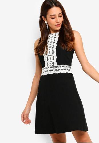ZALORA black Lace Fit And Flare Dress B5E51AA29E6F11GS_1