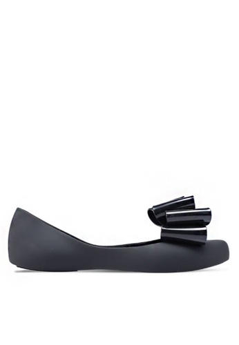 Twenty Eight Shoes black Double Jelly Bow Ballerinas m039-2 584E3SHA3384E6GS_1