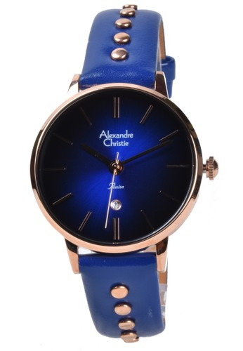 Alexandre Christie blue Alexandre Christie - Jam Tangan Wanita - Rosegold - Blue Leather Strap - 2755LDLRGBU 7C186ACB16F711GS_1