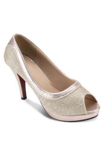 亮面露趾高跟鞋, 女esprit旗艦店鞋, 厚底高跟鞋