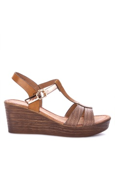 9f960b9f7c591a Mendrez brown Quinny Wedge Sandals 5F10BSH6F19DFFGS 1