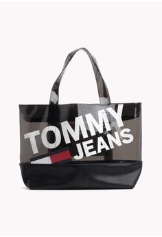 371dd4b4c Tommy Hilfiger black TJU SUMMER TOTE TRAN A787BACEED8EC9GS 1