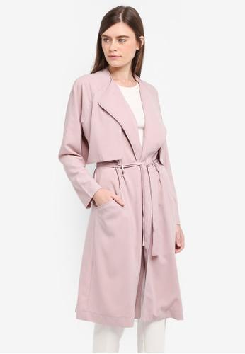 Zalia pink Soft Trench Coat 8A366AAE1351B7GS_1