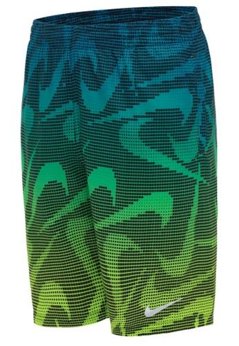 """Nike blue Nike Swim Boy's Pixel Swoosh Breaker 8"""" Volley Short 8A0B7USE6C85E8GS_1"""