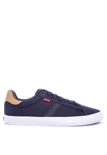 Levi's navy SKINNER CANVAS/PU Sneakers 7FC6ESH4BE754FGS_1