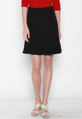 JOVET black Fluted Hem Skirt 3201DAA6556CA6GS_1