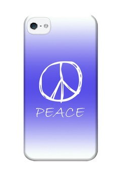 Peace Sign Hard Case for iPhone 4, 4s
