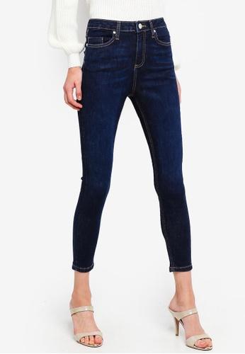 Buy Miss Selfridge Petite Lizzie Indigo Caramac Jeans  38d509bca