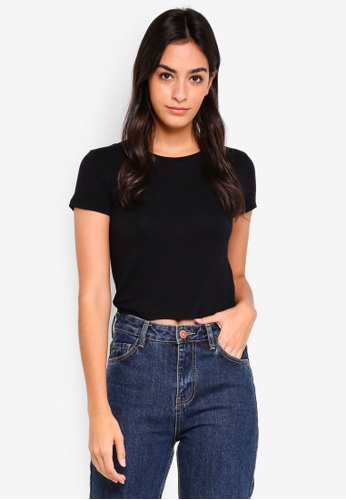 Cotton On black The Baby Tee 55B59AAE12D182GS_1