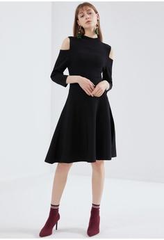 b114c29d069f8d Hopeshow Cut Out Cold Shoulder Dress HK  469.00. Sizes S M