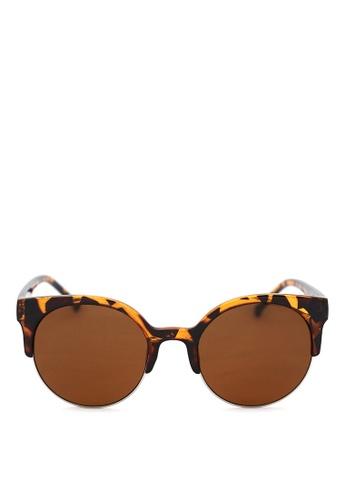 Kaca-kaca brown Kaca Kaca Jaxon Leopard Sunglasses KA666AC0RISJMY_1