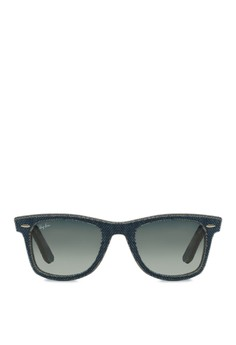 Wayfarer Denim Sunglasses