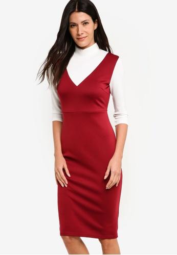 ZALORA multi High Neck Scuba Dress 99C8DAA8A598DDGS_1