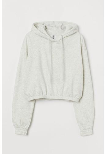 H&M grey Boxy hoodie 5FE26AAD546BFCGS_1