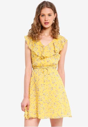 Jack Wills yellow Hartstop Frill Dress 85A4CAAF8A03AFGS_1