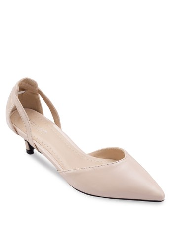 Lola 尖esprit hk分店頭鏤空低跟鞋, 女鞋, 鞋
