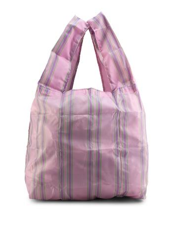 GLOBAL WORK pink Paper Effect Bag EA503AC7E00E78GS_1