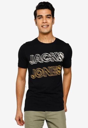Jack & Jones black Boxer Short Sleeve T-Shirt 0DBE5AA867A385GS_1