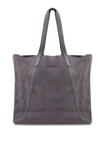 MANGO grey Suede Shopper Bag 26F5BAC34916DBGS_1