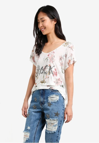 ONLY white ONLY ONE Iris Short Sleeve Top ON573AA0S42TMY_1