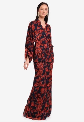 Alia B. red Astrid Kimono Top With Mermaid Skirt AL946AA0STD9MY_1