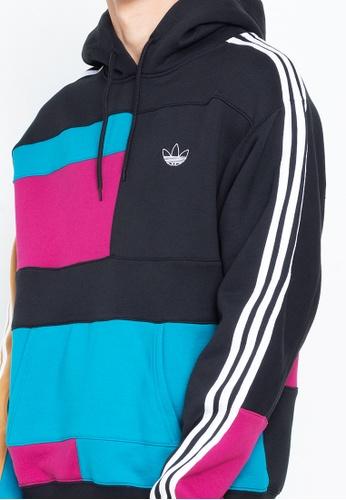 Adidas Asymm Block Hdy BerryActive Teal Hoodie