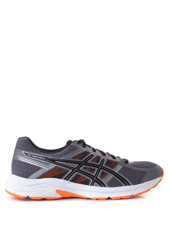 Asics black and orange GEL Contend 4 Running Shoes AS445SH27UJWPH_1