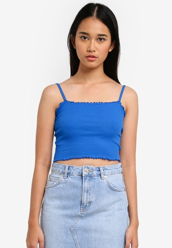 TOPSHOP blue Riley Lettuce Camisole 733C6AA02B9195GS_1