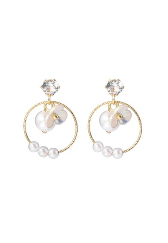Atrireal beige and gold ATRIREAL - Autumn Blossom Drop Earrings AAB6BACA9D592CGS_1