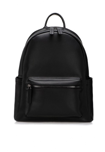 HAPPY FRIDAYS black Mr.Black Leather Backpacks M.02 40CCFACE30623CGS_1