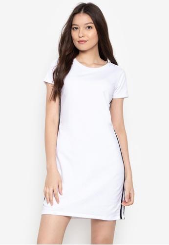 OXYGEN Contrast Shirt On Dress Regular Length T Trim Shop Trend With vbf67Ygy