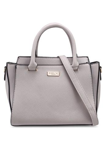 Unisa grey Saffiano Convertible Top Handle Bag 99FC5AC0907494GS_1