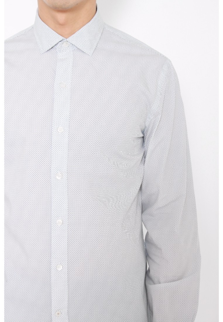 Sleeve Long Dockers Dockers White Poplin Refined White Paper Paper Shirt Fitted f1pw7Igwxq