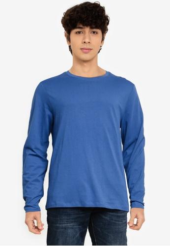 OVS blue Long Sleeve T-Shirt E2719AABCBE9BFGS_1