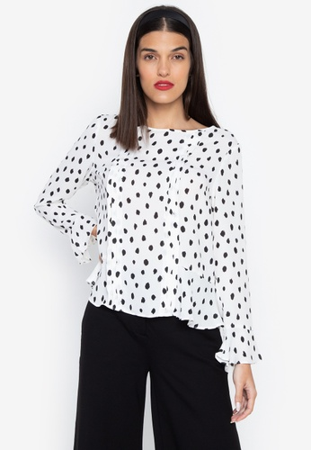 Susto The Label white Racha Dotted Top C0F22AAD61F2FEGS_1
