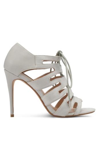 ZALORA grey Multi Strap Lace Up High Heels 57A7ASHF5787FEGS_1