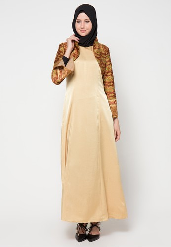 AZZAR brown Siona Maxi Dress With Jacket AZ485AA46WJHID_1