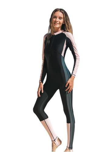 LYCKA 黑色 LSK2091歐式風格女士潛水服上衣-黑色 B7323US6813D23GS_1