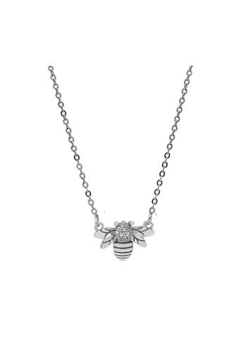 LYCKA silver LDR1227 S925 Silver Cute Bees Necklace B4E8CACFD744F2GS_1
