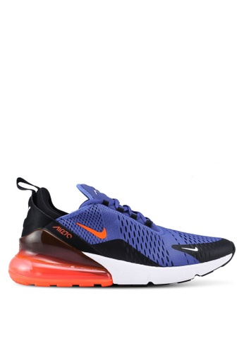 93b8d428ffcd2 Nike black and orange and blue Men s Nike Air Max 270 Shoes  8230DSH376C710GS 1