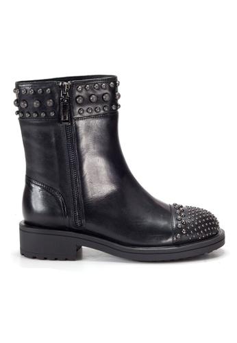 Shu Talk black Amaztep Stylish Studs Easy Zippy Ankle Boots CDCC1SH5058B69GS_1