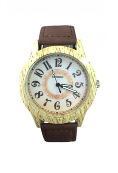 Sonsdo Women's Watch with Wood Texture Design