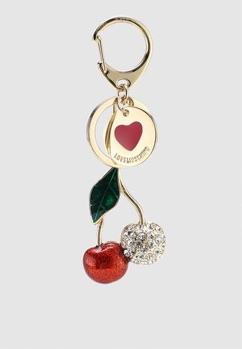 Shop Love Moschino Cherry Gold Metal Keychain Online on ZALORA Philippines 24c15d7c6
