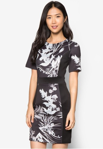 花卉園領連身裙zalora 衣服尺寸, 服飾, 正式洋裝