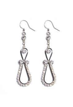 Clique Fashion Night Glam Earrings Silver Wedding