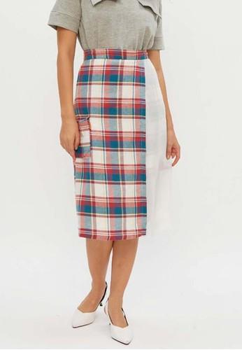 Muzca white and red and blue MUZCA WOMEN Autumn Skirt BD9E0AA8B9A820GS_1
